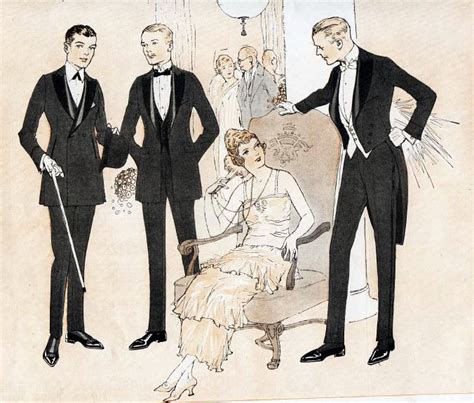 tuxedo rental for a 1920s prom 1920s mens fashion evening wear tuxedos and dinner jackets