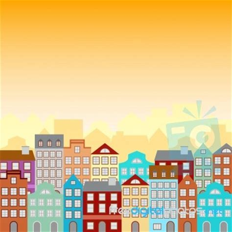 Town Houses Royalty Free Stock Photos Image 5251458 town houses in a retro style pattern stock image