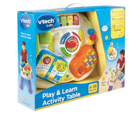 play and learn activity table vtech play learn activity table 3417761480038 ebay