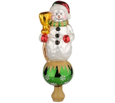 blown glass tree toppers pacconi blown glass tree topper h0698 qvc