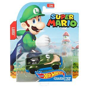Hotwheels Mario Bros Mario wheels mario bros luigi character car fgk33 wheels