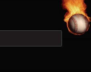 Download Free Baseball Powerpoint Template With Black Background And A Baseball Fire Effect It Free Baseball Powerpoint Template
