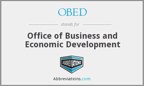 Office Of Economic Development by Obed Office Of Business And Economic Development
