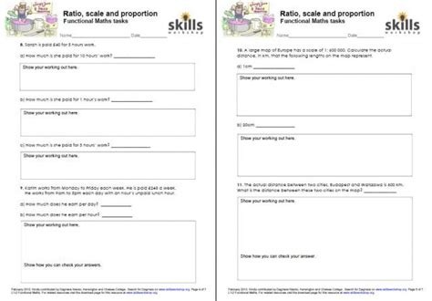 Functional Math Worksheets by Ratio Scale And Proportion Functional Maths Tasks