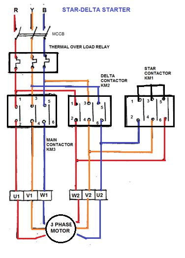 wye start delta run motor wiring diagram get free image