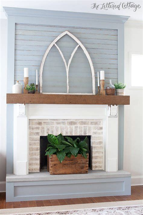 Lettered Cottage Fireplace by This Fireplace Makeover The Planked Surround The