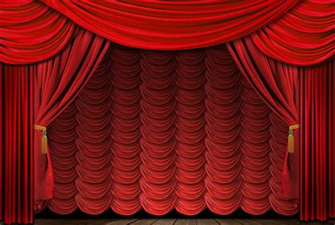 curtains broadway old fashioned elegant red theater stage drapes old
