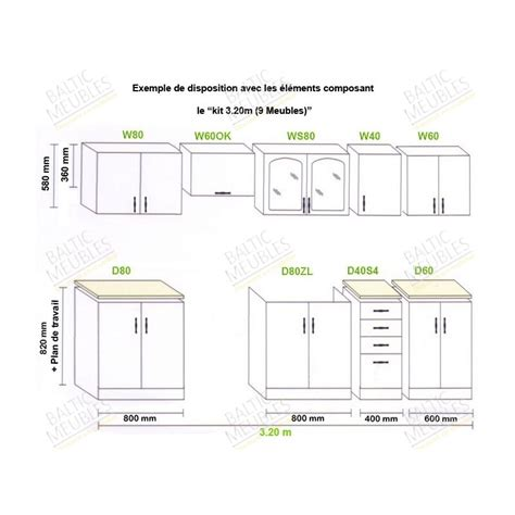 plan meuble cuisine modele meuble de cuisine id 233 es de d 233 coration int 233 rieure