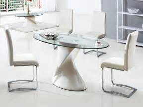 Oval Glass Dining Table And Chairs Dining Room Interesting Dining Area Implemented With Small