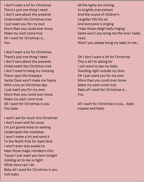 all my testo image result for all i want for is you lyrics