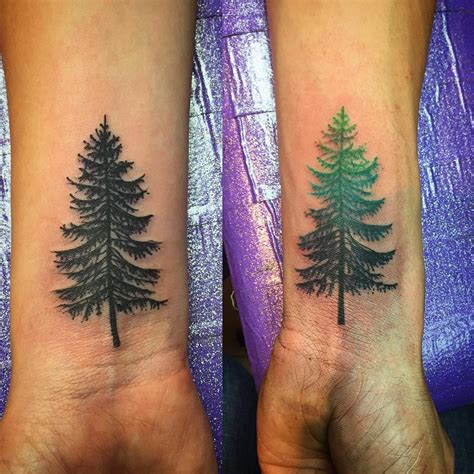 cedar tree tattoo 75 simple and easy pine tree designs meanings