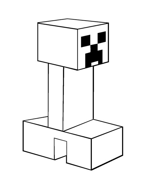 free coloring pages of creeper