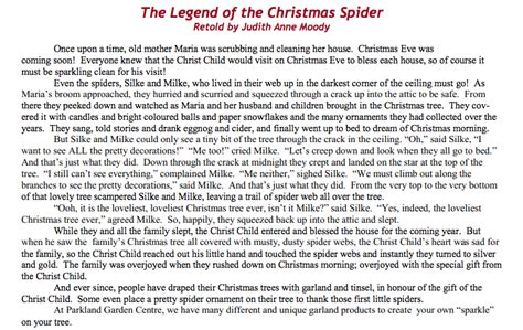 printable version of the legend of the christmas spider the legend of the christmas spider writers ink