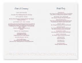 Printable Wedding Program Templates by Template For Wedding Programs Studio Design Gallery