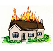Cartoon House On Fire