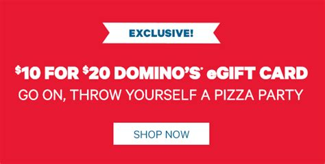 Where Can I Buy A Groupon Gift Card - groupon 10 domino s gift card for 5 southern savers