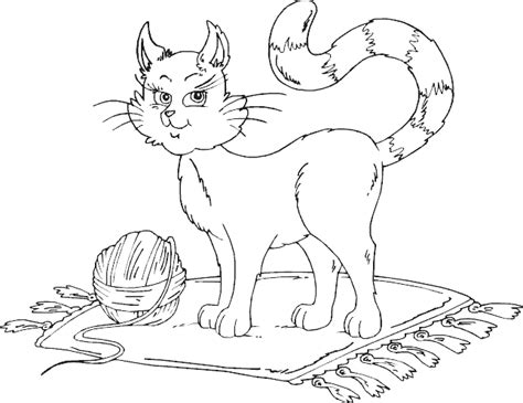 kitten yarn coloring page cat with ball of yarn coloring page coloring com