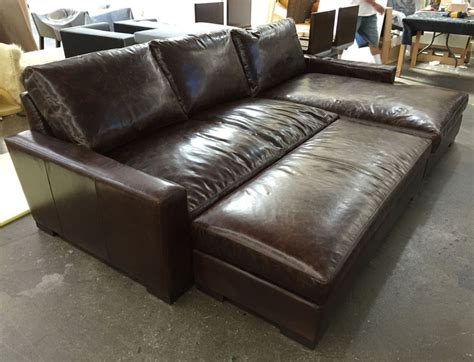 braxton sectional sofa braxton leather sofa chaise sectional in brompton cocoa