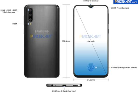 Samsung Galaxy A50 Verizon by Samsung Galaxy A50 Leaked Render Shows Minimalistic Notch Phonearena