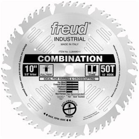 freud table saw blades freud lu84m011 10 inch 50 tooth atb combination saw blade with 5 8 inch arbor home