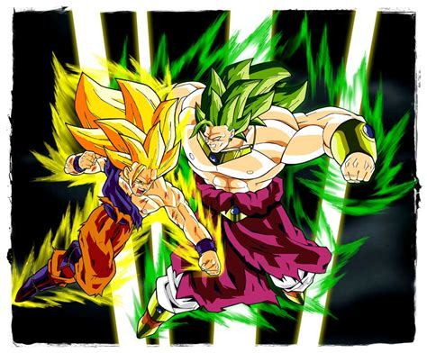 imagenes de goku y broly goku vs broly dragon ball z rivals wiki fandom powered