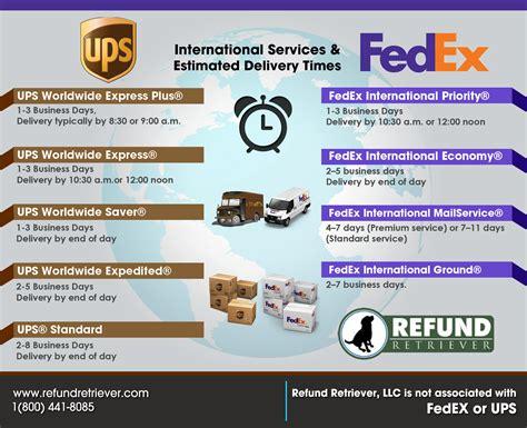 ups fedex international services refund retriever