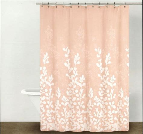 peach pink curtains the 25 best peach shower curtain ideas on pinterest