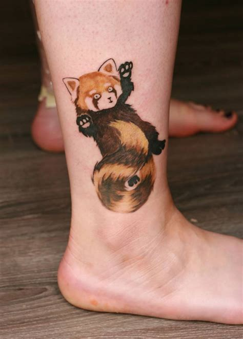 red panda tattoo panda by angelique grimm by inkage crew