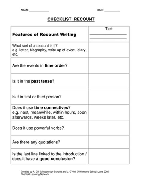 biography writing checklist ks2 checklists for 14 different genres by olivia987 teaching