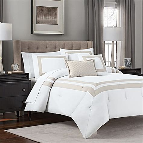 Hotel Bedding Comforter Sets Banded 5 Hotel Style Comforter Set Bed Bath Beyond