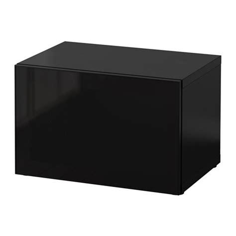 Ikea Besta Zwart by Best 197 Open Kast Met Vitrinedeur Zwartbruin Glassvik