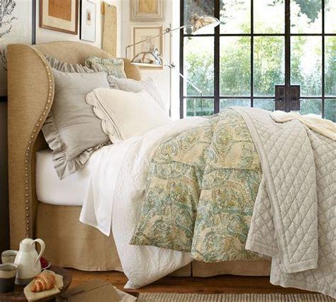 raleigh wingback bed headboard with nailhead pottery barn