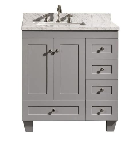 30 inch grey bathroom vanity with drawers accanto contemporary 30 inch grey finish bathroom vanity