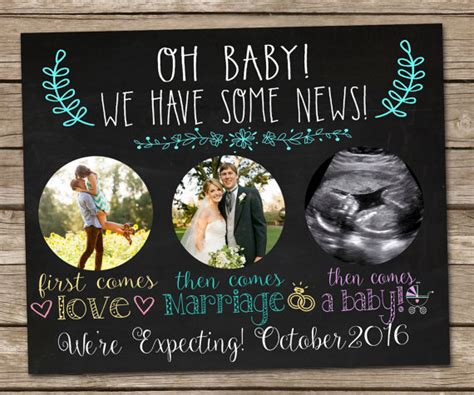 free pregnancy announcement templates printable chalkboard pregnancy announcement sign digital file