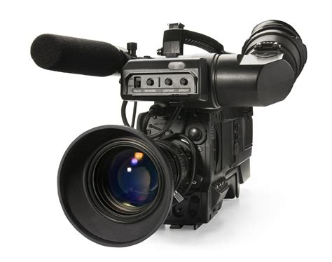 blogger video camera professional digital video camera isolated on white