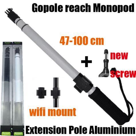 Monopod Gopole Reach Killer For Gopro Sjcam Yi popular tripod extension pole buy cheap tripod extension pole lots from china tripod extension