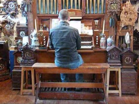 Organ Professor And Organist Christoph Organ And Clock Collection Chris Lawton At The