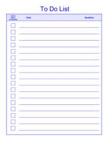 List To Do Template free printable daily weekly to do list for template