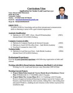 Surveyor Resume by Resume Format For Land Surveyor Resume Format