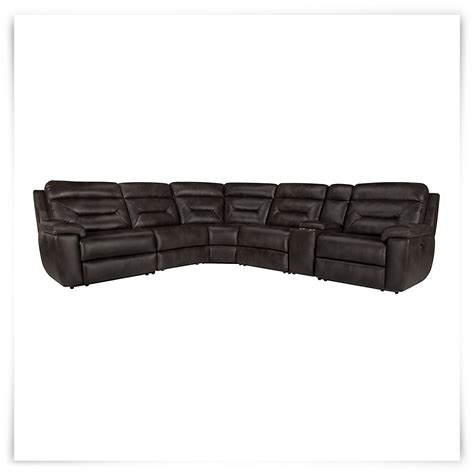 Reclining Sectional Microfiber by City Furniture Dk Gray Microfiber Small Two Arm