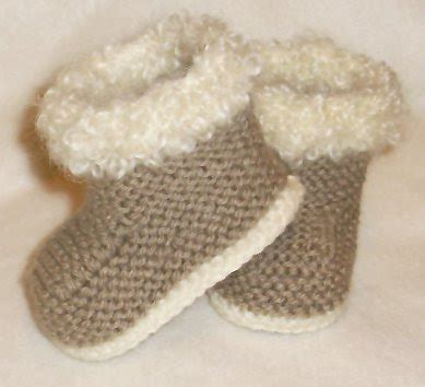 baby knitted ugg boots knit baby booties boots pattern free patterns