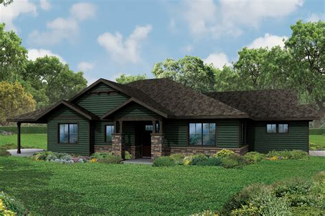 ranch home new ranch house plan the baileyville has craftsman