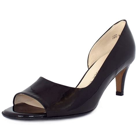 toe shoes kaiser jamala open toe shoes in black patent mozimo