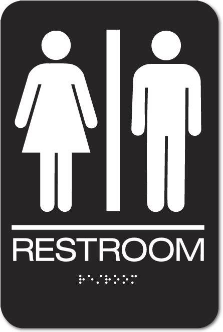 unisex bathrooms nyc unisex restroom sign braille black acrylic ep5305
