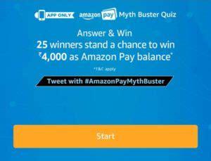 amazon quiz winner answers amazon myth buster quiz answer win rs 4000