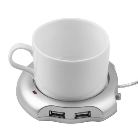 Hubbacino Usb Hub And Cup Warmer by Aliexpress Buy Silver 4 Port Usb Hub Tea Coffee