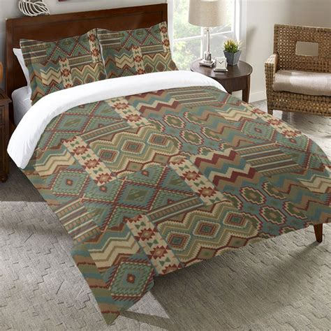 Southwest Collage Duvet Cover   Queen