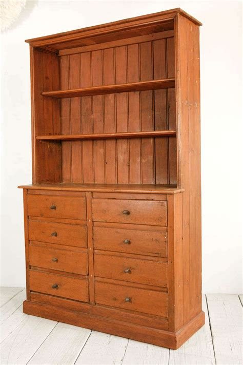 Pine Hutch Painted Eight Drawer Pine Hutch At 1stdibs
