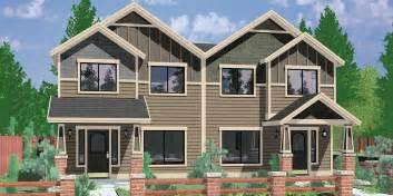 Craftsman House Plans Garage craftsman duplex house plans house plans with rear garages 3 bedroom