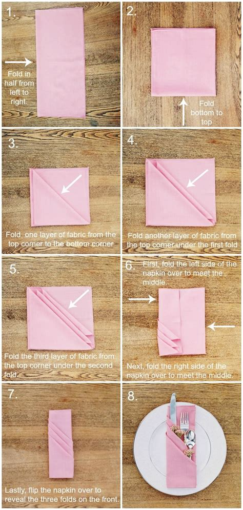 Ways To Fold Paper Napkins - best 25 folding napkins ideas on napkins